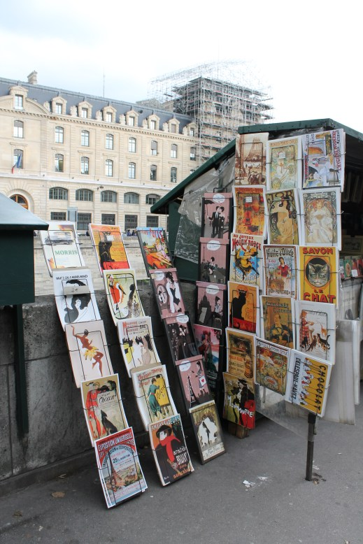 The antique shops on the banks of River Seine