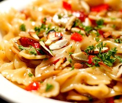 Mushroom and Red Capsicum Pasta