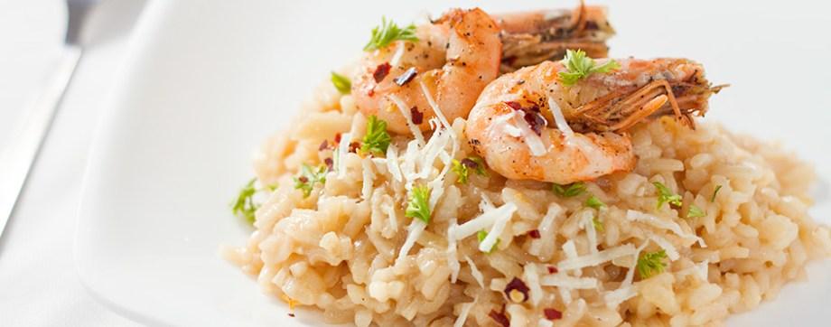Roasted Shrimp Risotto