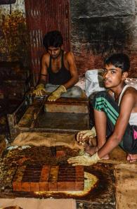 Men at work in Dharavi