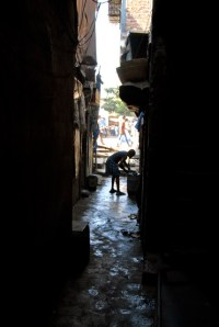 Narrow lanes of Dharavi - 1