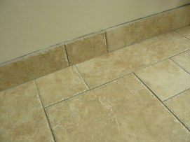 tiled skirting - saves on painting!