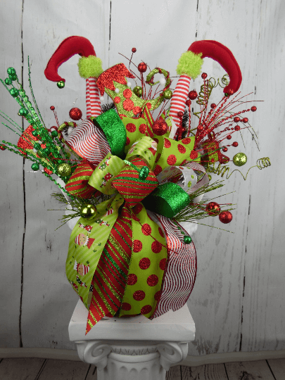 Christmas Elf Centerpiece Home Decor Wreaths Garland