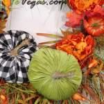 Fall Wreath With Buffalo Plaid Pumpkins Swaym E Vegas