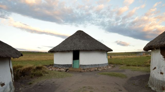 Traditional rondavel homestead in Pondoland
