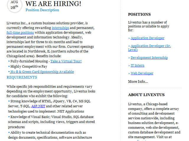 New Career Opportunities & Internships for IT Students