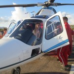 La Plata Middle School students check out the air ambulance during a visit to Gila Regional Medical Center as part of the Dream Makers Health Careers Club.