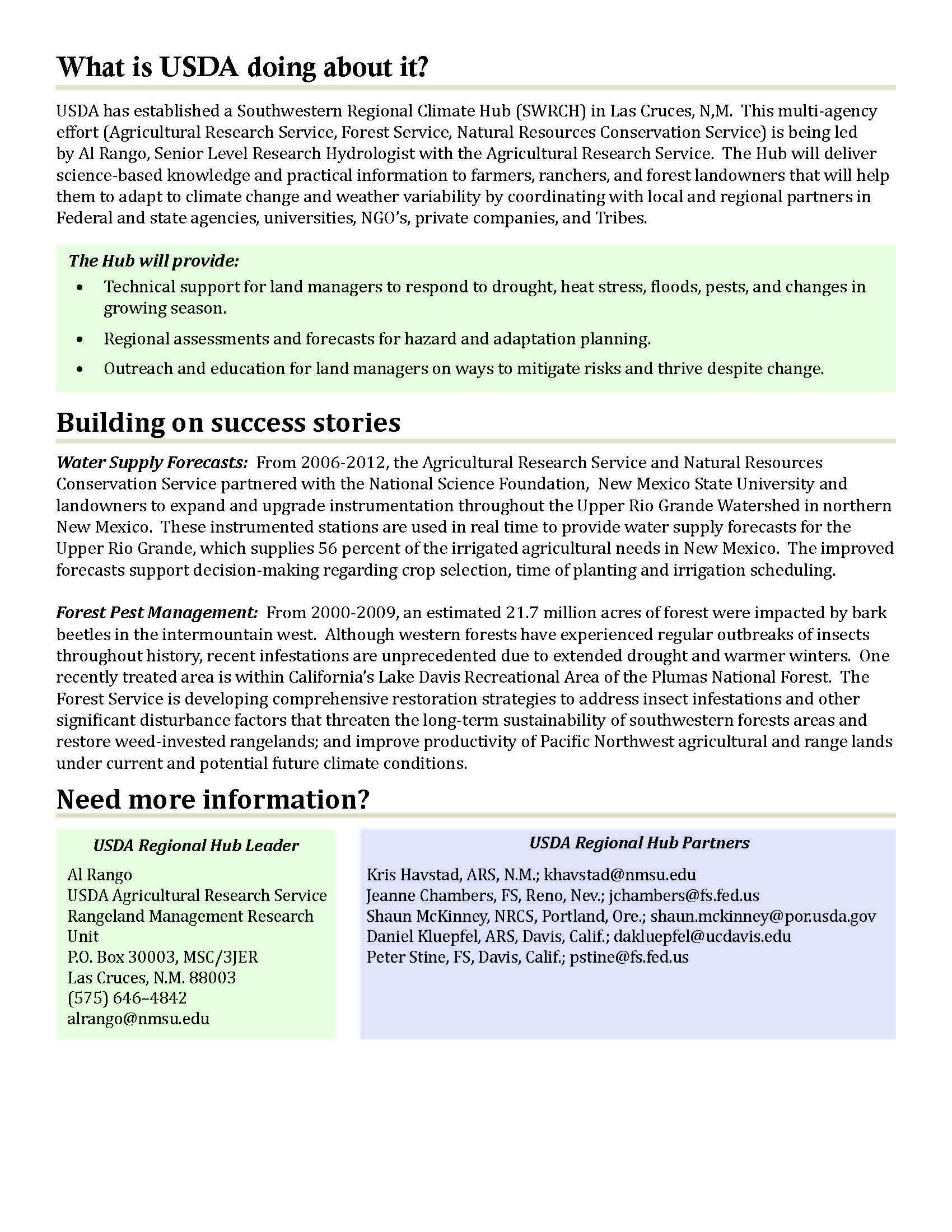 Southwest Region Fact Sheet