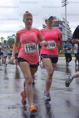 My sister and I running in the rain!