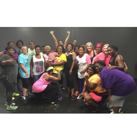 Yesterday's Zumba Crew.. I love the unity in this photo. We Love Each Other!