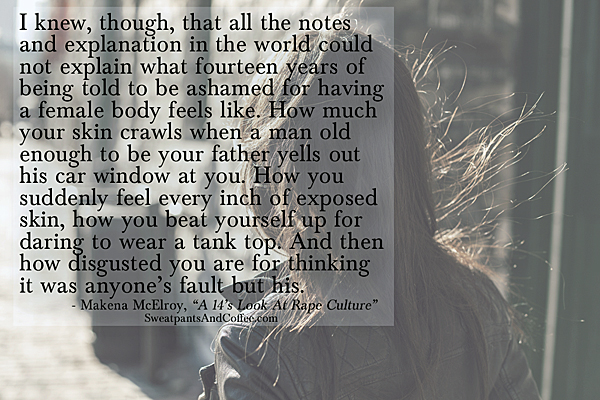 A 14 Year Old's Look At Rape Culture_Makena McElroy_Sweatpants & Coffee_600x400