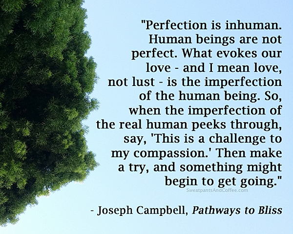 Joseph Campbell quote on perfectionism_600px