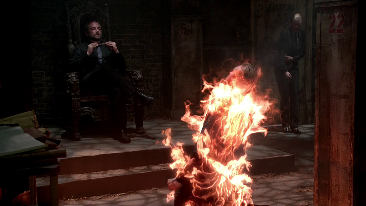Image result for supernatural crowley's throne