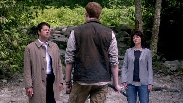 11 Supernatural Season 10 Episode 1 S10E1 Black Castiel Misha Collins Hannah Erica Carroll