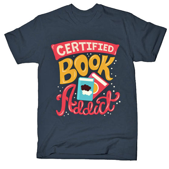 Certified Book Addict tshirt