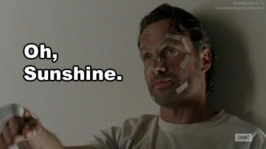 The Walking Dead s5e16 Rick sunshine