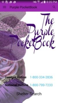 Purple Pocketbook App hotlines