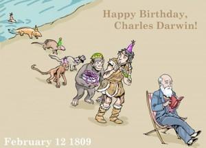 Photo 2. S&C Darwin Day birthday surprise