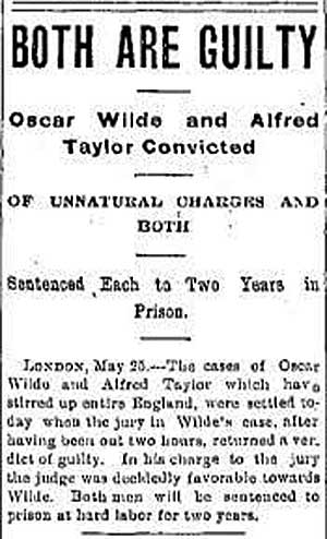 Oscar Wilde Alfred Taylor
