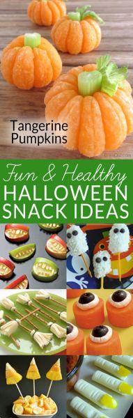 Tangerine Pumpkins & 8 Other Healthy Halloween Snacks from BrenDid