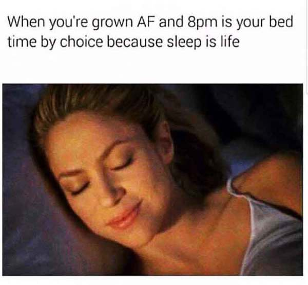 sleep is life meme