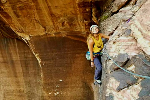 Sara Weaver Climbing Dark Shadows, NV