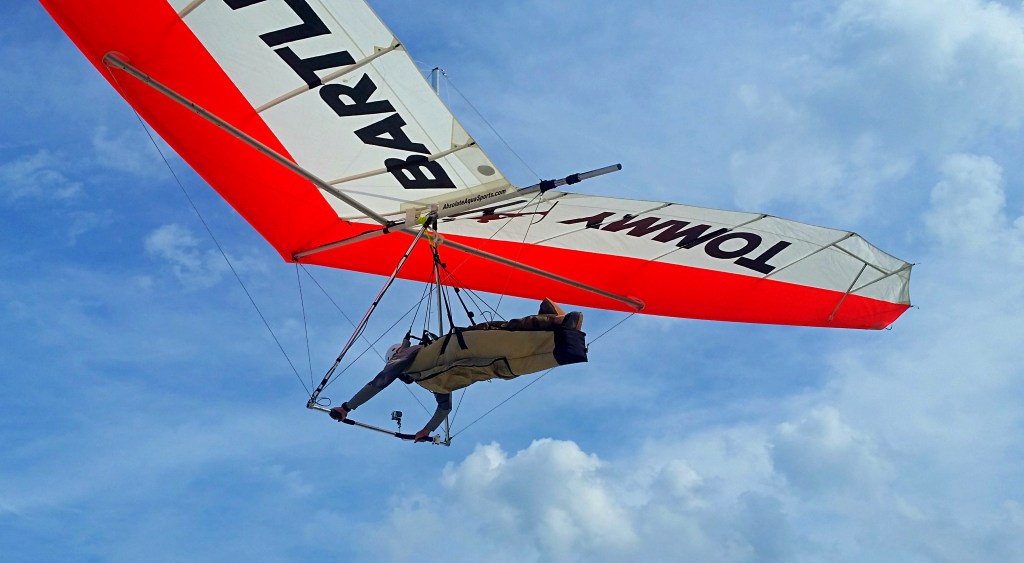 Jeremy Armstrong soars New Smyrna Beach in a hang glider