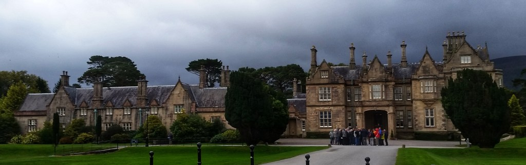 Muckross House is the first landmark along the Kerry Way, about two miles into the 131 mile trail. The house is surrounded by expansive lawns and gardens, and as I'd come to be grateful for, manicured and flat running surfaces! Photo: Sara Weaver, Sept. 2017.
