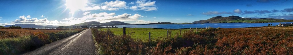 One of the reasons why day 4 on the Kerry Way was one of my favorites was due to the fantastic weather I found in Cahersiveen. I walked all the way from downtown to the Valentia ferry dock under a clear blue sky. Photo: Sara Weaver, Oct. 2017.