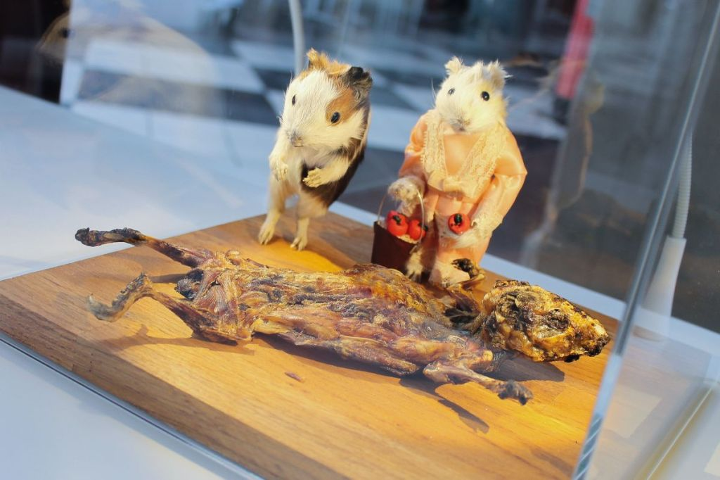 Roasted guinea pigs from Disgusting food museum