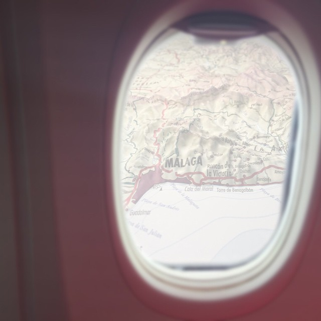 På väg hem från Spanien.