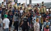 Detained Refugees at Munich's Central Station