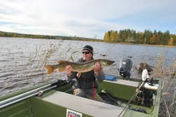 pike fishing northern sweden