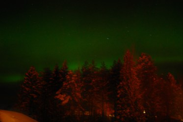 Clear skies and we are treated to a display from the northern lights.