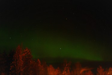 Northern Lights from our bedroom window.