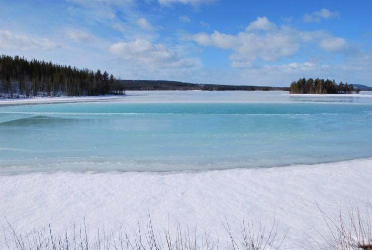 Retreating lake ice, Vindeln, Vasterbotten, Northern Sweden by swedenfishingandbirding