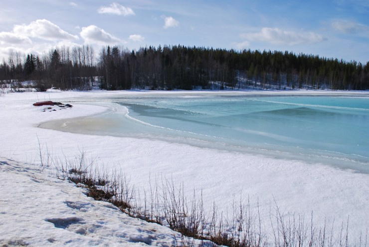 Retreating lake ice, Vindeln, Vasterbotten, Northern Sweden by swedenfishingandbirding
