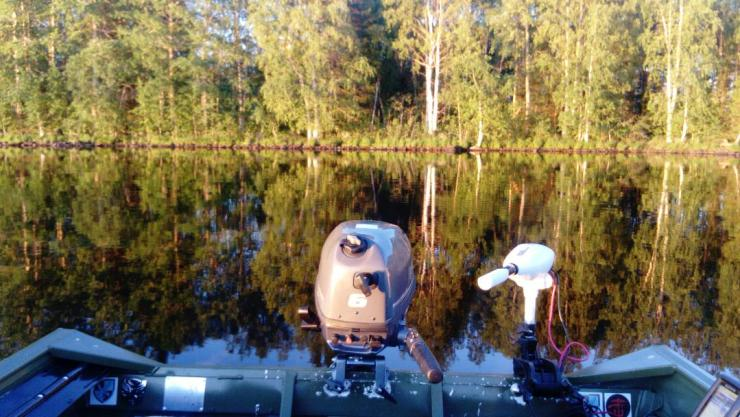 Out on the lake with sweden fishing and birding