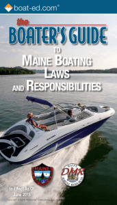 Maine Boating Laws and Responsibilities