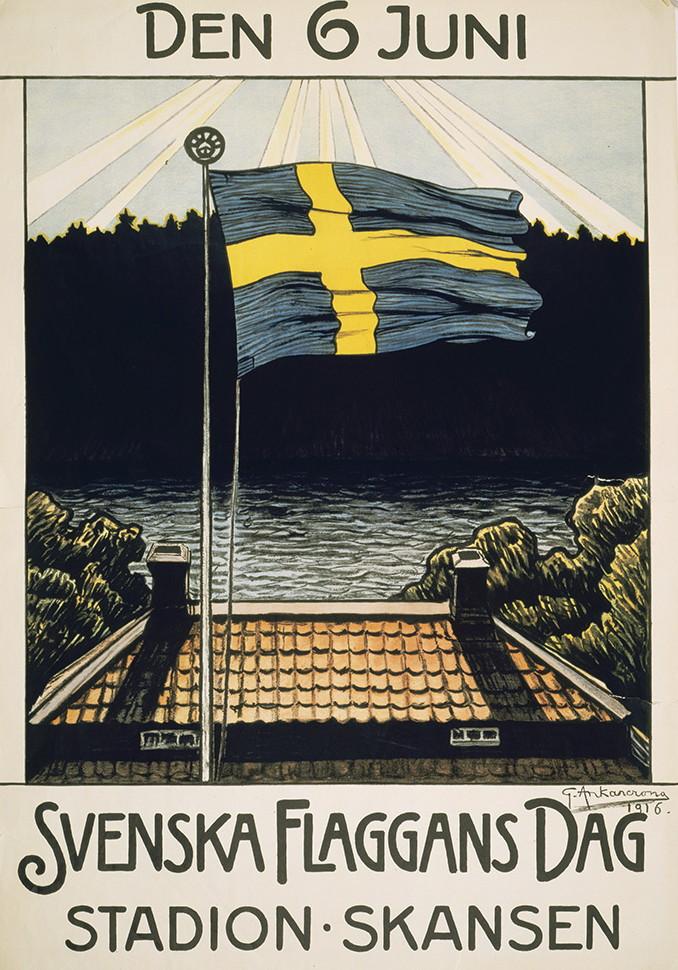 1916年瑞典國旗日慶典海報