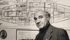 Naval architect Knud H. Reimers in the Seventies © Sjöhistoriska museet