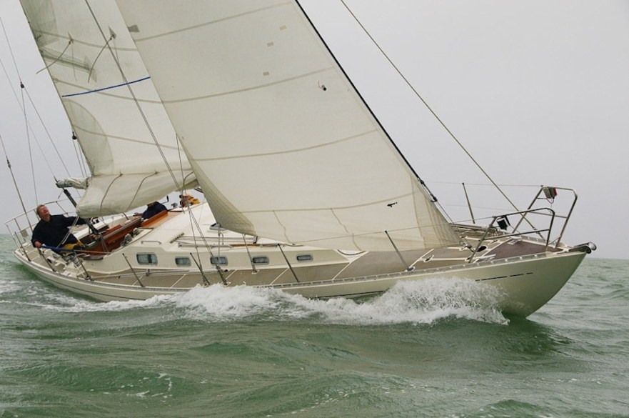 Gamle Swede finishing a race at a rainy day © Swedesail