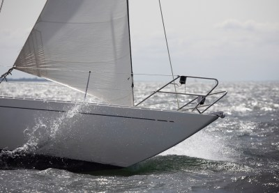 Swede 55 driven by a 183 sq ft stormjib © Nico Krauss/Swedesail