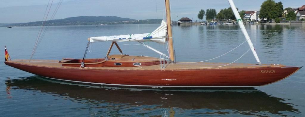 Ein neuer Reimers 30er mit spitzem Aufbau © Rolf Winterhalter/Bootswerft Beck & Söhne