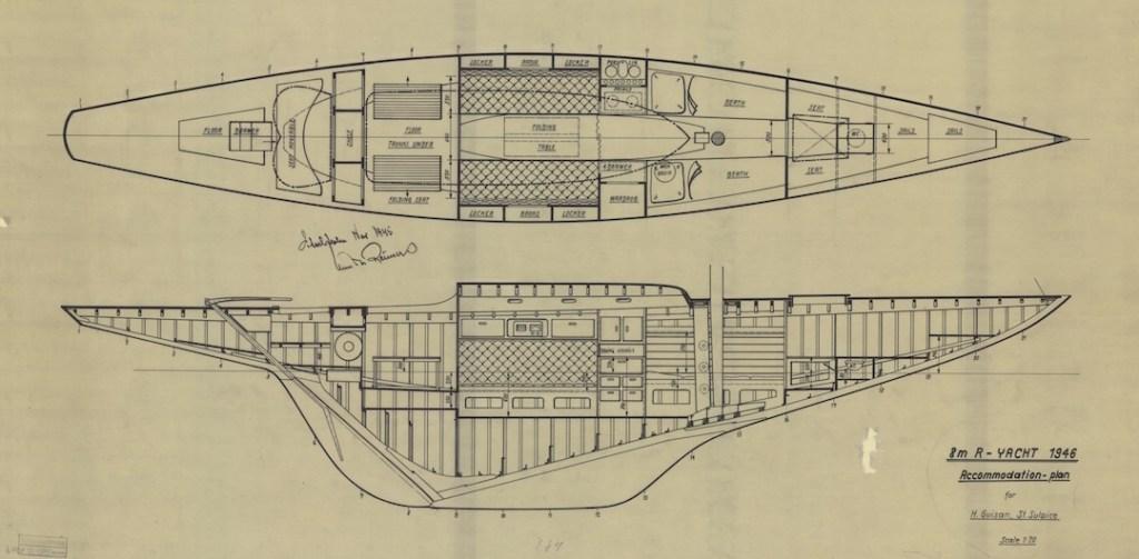 Reimers 8 m-R Yacht Glana © Sjöhistoriska museet/Stockholm