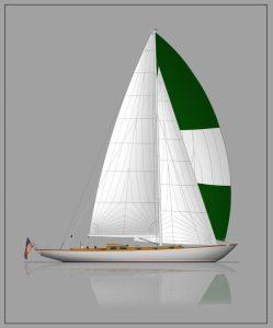 Joel White Entwurf # 50 © Brooklin Boat Yard