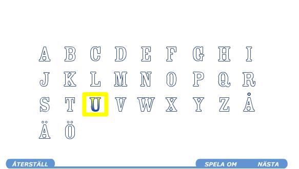 أي حرف سمعت ؟ تدرب على سماع وتمييز الحروف السويدية بطريقة رائعة