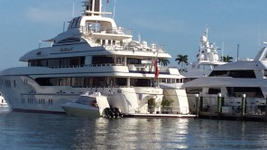 Megayachts in Palm Beach.