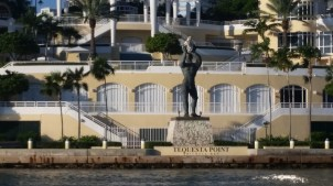 Statuary at a luxury condo in downtown Miami.