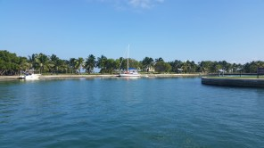 A look across the little harbor at Boca Chita.